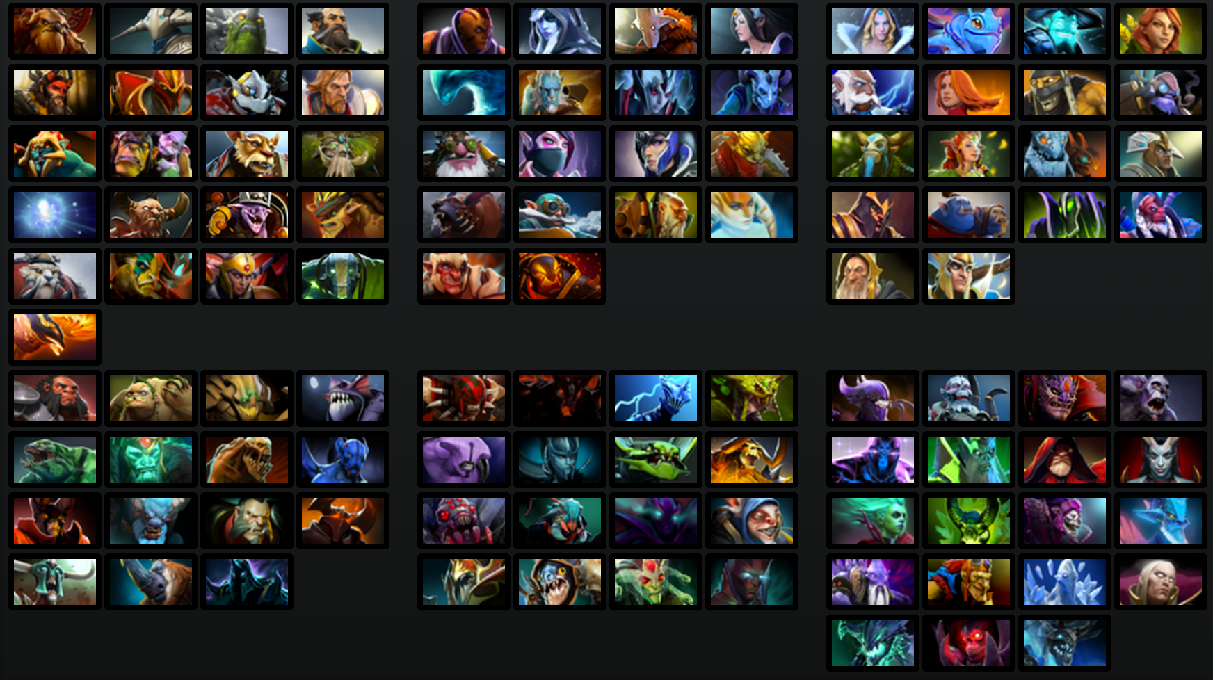 list of dota hero