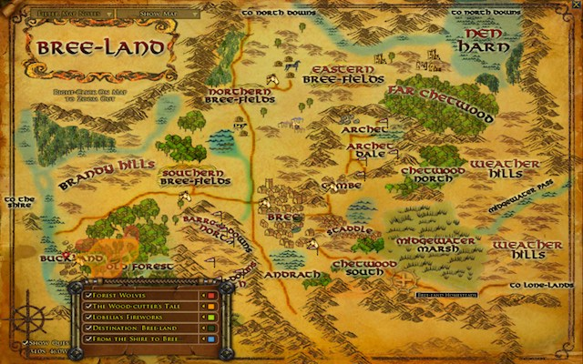 Worst Map Ever Contender Lord of the Rings Online – Lord of the Rings Detailed Map