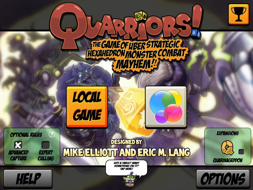 quarriors main menu